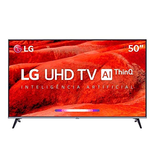 "Smart TV LED PRO 50"" Ultra HD 4K LG 50UM751C0SB, ThinQ AI, 4 HDMI, 2 USB, Wi-Fi"
