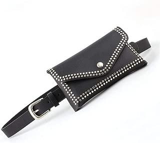 SGJFZD Ladies Bag Belt Personalized Fashionable Round Rivet Decorative Waist Belt Belt Female (Color : Black, Size : 105 * 2.3cm)