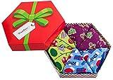 Rainbow Socks - Damen Herren Weihnachten Socken Box für Geschenk - 3 Paar - Lebkuchenmännchen Zuckerstangen Geschenkesocken - Größen 41-46