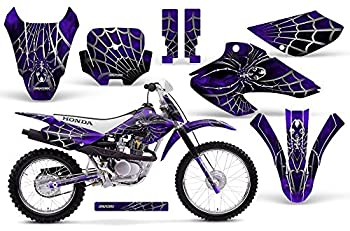 CreatorX Graphics Kit Decals Stickers for 2001-2003 Honda Xr80 Xr100 Xr 80 100 SpiderX Purple