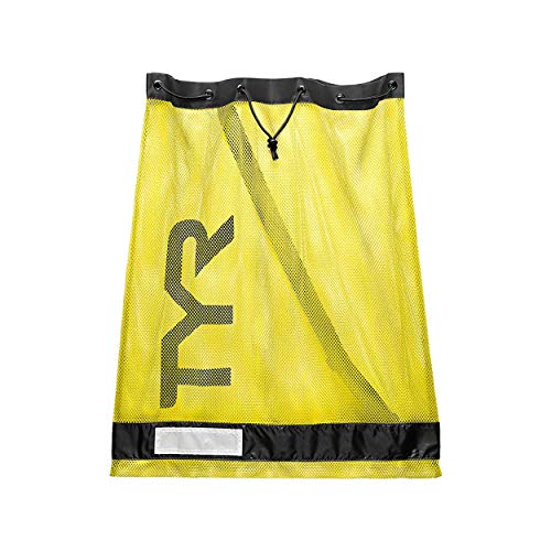 TYR Sport Sac Filet Mesh Natation 75L Equipement Adulte Unisexe, Jaune fluot