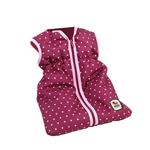 Bayer Chic 2000 792 29 Puppen-Schlafsack für Babypuppen, Brombeere, lila, rosa