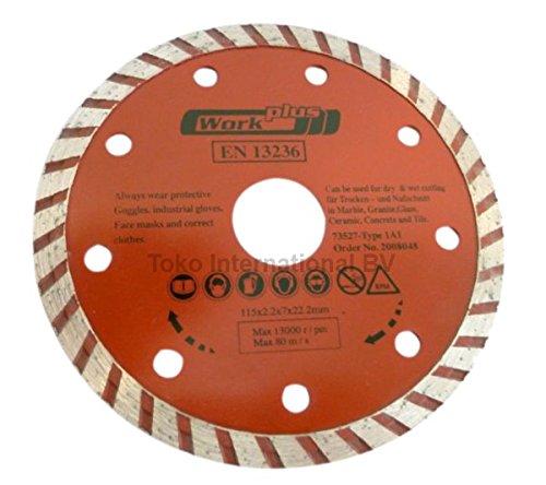 Rio nntm Turbo Ondas de diamante (230mm x 22,23mm (Incluye Anillo Reductor de 20mm) en13236–Corta rápido y limpio como estándar Discos de corte de diamante–estriado borde
