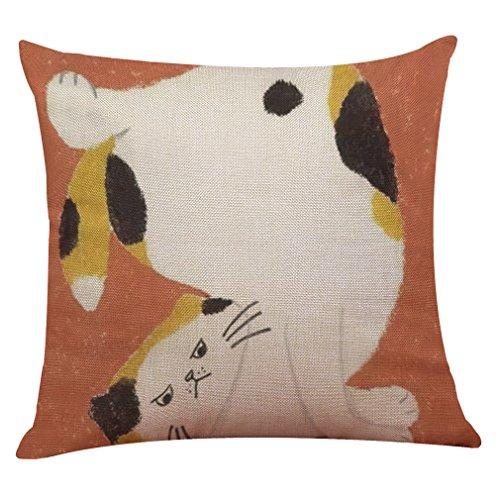 Vovotrade Cute Cat Sofa Bed Home Decoration Festival Housse de coussin Housse de coussin (I, Multicolore)