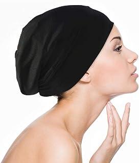 Slaapmuts voor vrouwen krullend haar meisjes satijn gevoerd Slouchy Cap Curly met brede elastiek hoogelastische snooze-dro...