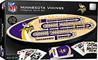 "MasterPieces NFL Minnesota Vikings Cribbage Game Set, Assorted, 14"" x 40"" (41961)"