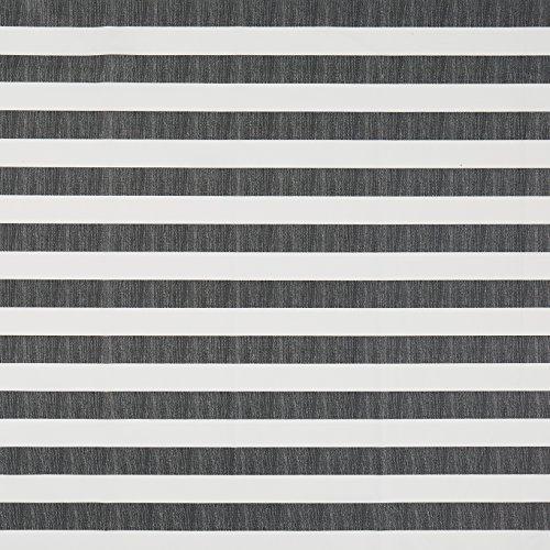 Vinylla Baumwoll-Tischdecke mit Vinylbeschichtung für einfache Reinigung, schwarz gestreift, 140 x 180 cm