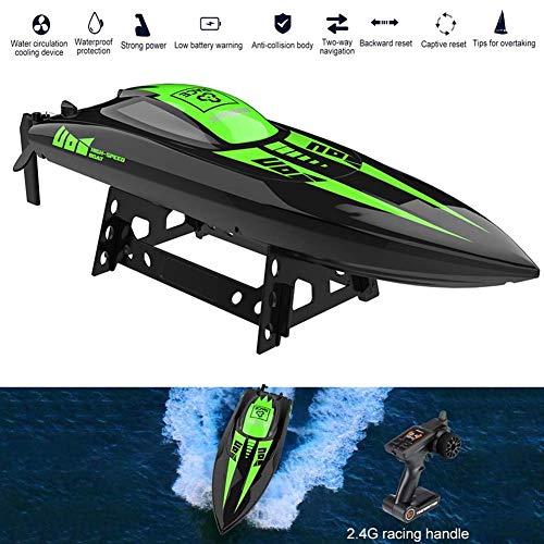 FXQIN Fernbedienungs Boot für Kinder RC Rennboot mit 4 Kanal und Auto Flip Recovery 40 km/h RC Wasserfahrzeug Ferngesteuerte Yacht für Pools und Seen RC Boot