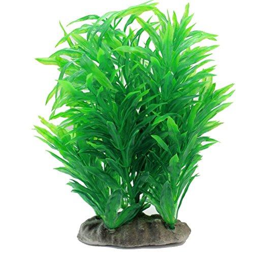 UEETEK Künstliche Aquariumpflanze,Wasser Aquarium grünes Gras-Lange Blatt-Anlage für Fisch-Behälter-Dekor