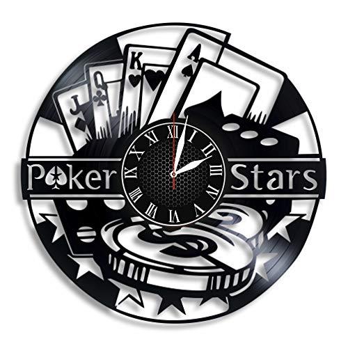 Poker Game Vinyl Wall Clock, PokerStars Art, Play Poker, Poker Club Design Gift for Any Occasion