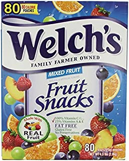 Welchs Fruit Snacks, 80 Count (2 Pack)