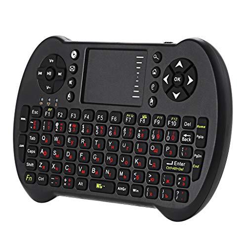perfk 2.4 G Mini Wireless Keyboard Tastatursteuerung für Smart TV HTPC, QWERTY Russisch Tastaturlayout