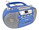 Karcher RR 5040 Oberon tragbares CD-Radio (AM/FM-Radio, CD, Kassette, AUX-In,...