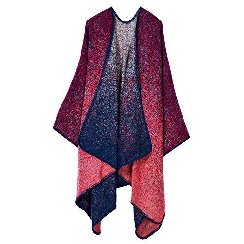 FENGHUAN Bufanda De Otoño E Invierno Elegante Gran Bufanda De Cachemira A Cuadros Chal Moda Capa Europea Y Americana Chal Cálido Punto De Barro Rojo