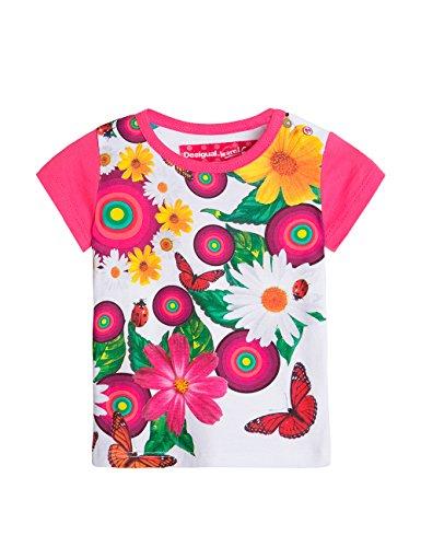 Desigual TS_AINA T-shirt, Blanc (Blanco), FR mois (Taille fabricant: 12) Bébé fille