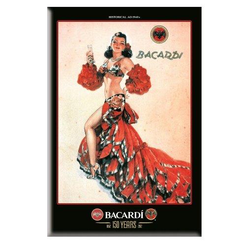 Bacardi Nostalgie Blechschild Red Lady