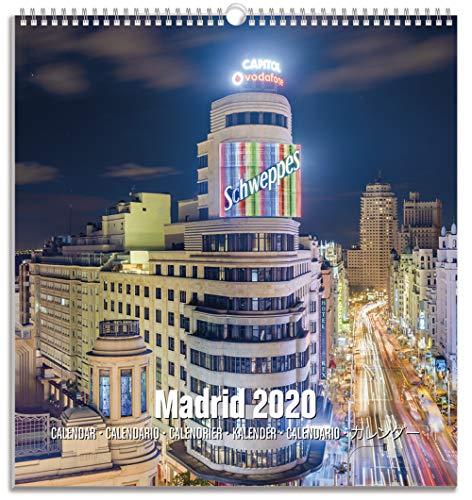 Erik® Madrid Postkarten Kalender 2020 Wandkalender mittelgross (22,5 x 24 cm)