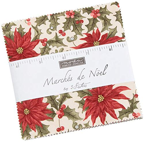 3 Sisters Marches De Noel Charm Pack 42 5-inch Squares Moda Fabrics 44230PP