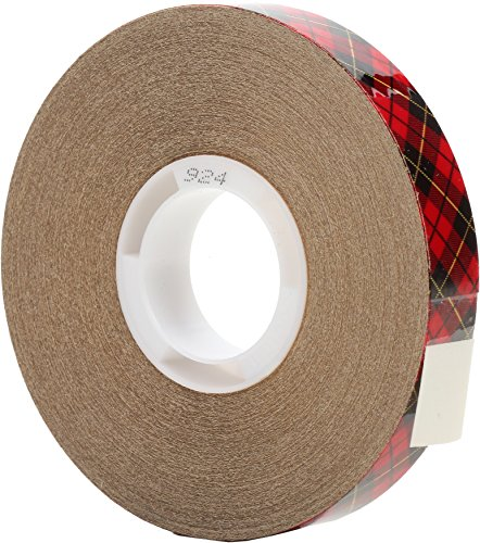 3M Scotch ATG Adhesive Transfer Tape 924 Clear, 0.50 in x 36 yd 2.0 mil (Pack of 12)