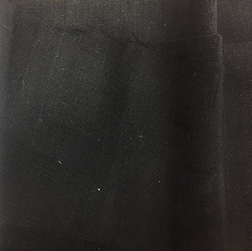 Black Woven Sew-On Interfacing Med. Weight 100% Cotton, 2 Yards x 62