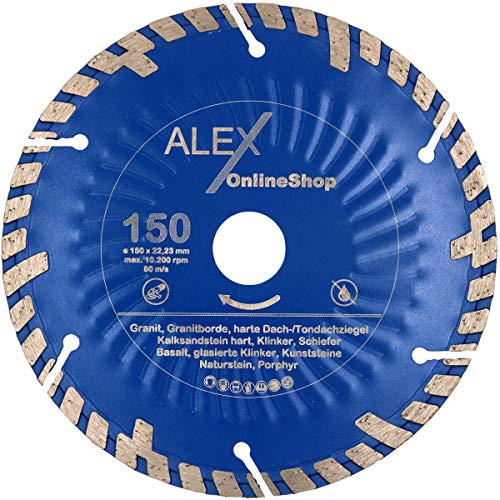 Disco de corte de diamante premium de 150 mm de diámetro