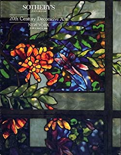 Twentieth Century Decorative Arts, Sotheby's New York. June 8 and 9, 1988