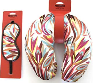 Missoni for Target Multicolor Travel Pillow and Eye Mask - 2 Piece Set