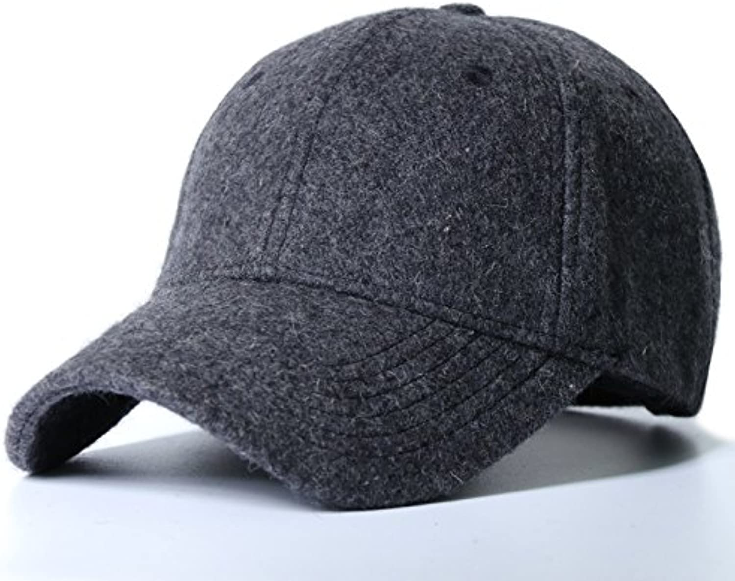 GUYOULY Winter Head Baseball Cap Thick Winter Warm Hat Male Large Size Cap