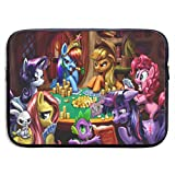 Cartoon My Rainbow Pony Laptop Sleeve Case 13 Inch Neoprene Protective Case/Notebook Computer Pocket Case/Tablet Briefcase Carrying Bag Compatible/Soft Carrying Zipper Bag