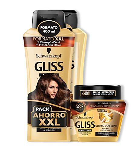 Gliss - 2 Champús 400 ml + Mascarilla Ultimate