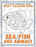 Sea Fish and Animals - Adult Coloring Book - Gold Fish, Nautilus, Clownfish, Whale, and more