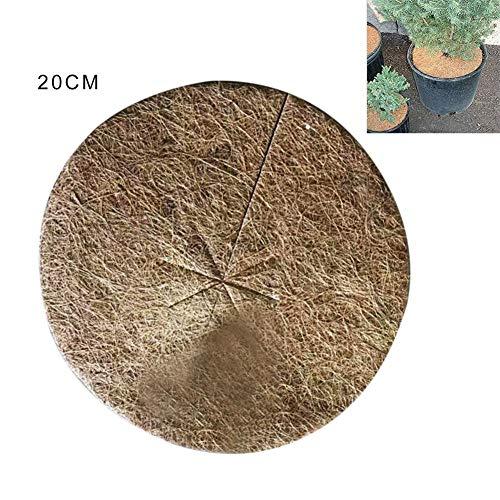 heling896 Disque de paillis Noix Coco 10PCS, Fibre de Coco de Couverture végétale, Protection hivernale de Tapis de Couverture végétale pour Plantes en Pot/Tapis de Protection des Plantes