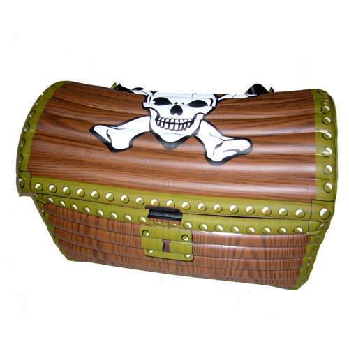 Aufblasbare Piraten-Schatzkiste, braun 60x30x30cm [Toy]