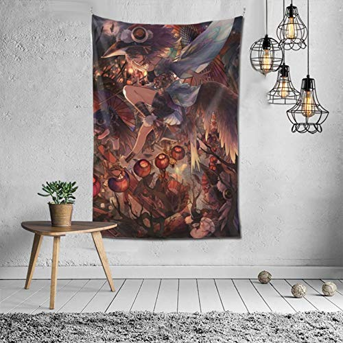 Isabelle & Emilie Tapestry Anime Stuffed Tapestry Wall for Hanging Tapestries Bedroom and White Black Mandala World Map