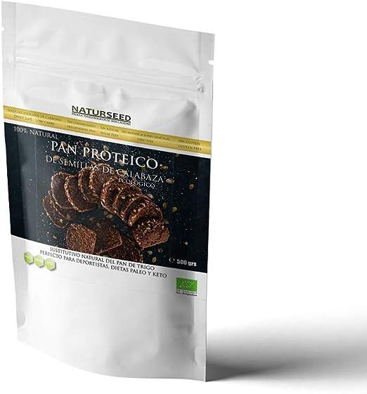 NATURSEED - Harina de Pan Proteico de Semillas de Calabaza Ecologico - 2,6gr de hidratos y 22% de proteinas - Apto para Dieta Keto, Cetogenica, Paleo ...