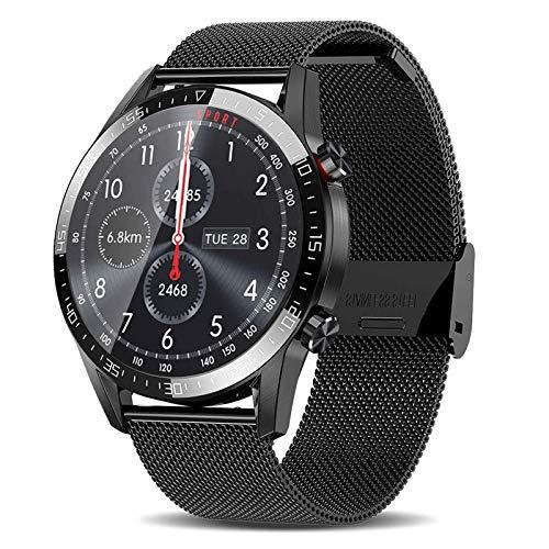 TWFJEL Smartwatch,Pantalla Inteligente de 1.3' Relojes Inteligentes Impermeable IP68 para Mujer Hombre, Reloj de Fitness con Monitor de Frecuencia Cardíaca/Sueño/Calorías/Pasos,para iOS Android,Negro