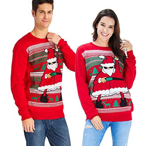Goodstoworld Jersey Navidad Mujer Hombre Feo Elfo Motivos Novedad Jerseis Navideños Familia Unisex Ugly Christmas Sweater Jumper