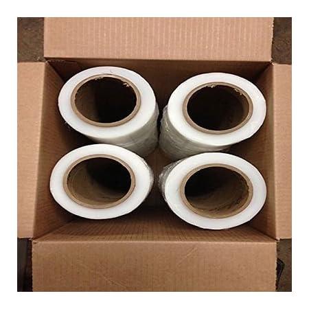 """4 Roll 18/"""" inch Clear Stretch Film Plastic Wrap 1000 Feet 5 Layers 91 Gauge"""