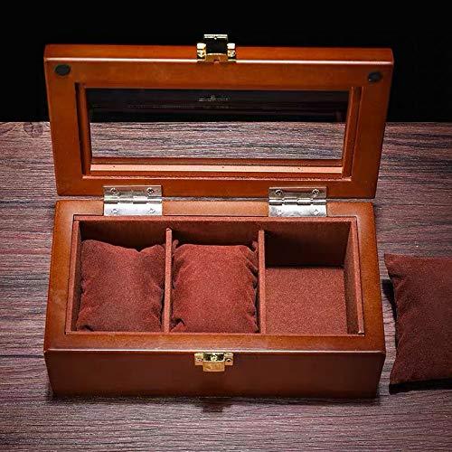 RFWPA Caja de presentación de Reloj de Madera, Organizador de Reloj Superior Negro, Caja de Madera,...