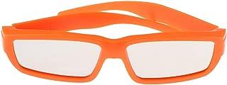 Gafas De Plástico Ecológico Eclipse Sombras Seguras para Ver El Sol, Plegables - Naranja