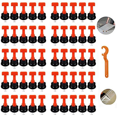 50Pcs Nivelador De Azulejos, Niveladores De Azulejos Reutilizables, Sistema Nivelación Azulejos, Kit Sistema Nivelación, Espaciador De Azulejos, Para La Construcción De Muros