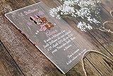 Partecipazioni battesimo personalizzate - inviti plexiglass minnie orsetto topolino re leone ordine minimo 20 pz busta compresa