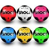1 pelota de fútbol de PVC para disparar de fútbol de plástico para niños y niñas, fiesta de cumpleaños para interiores y exteriores, playa, parque, hogar, patio, fiestas escolares (color al azar)