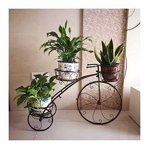 Triciclo Macetero Shabby Chic Soporte de Planta de Metal, Cestas Bicicleta Jardín Bicicleta Maceta Regalo, Decoración de Flores de jardín Soporte de exhibición para Interiores y Exteriores N