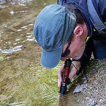 ALTAITREK PRO Paille filtre à eau - Appareil de purification de l'eau - Utile pour les urgences et la survie, les activités de plein air, le camping et la randonnée - Enlève Bactéries et Protozoaires
