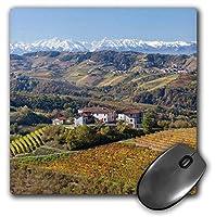 3D Rose'Vineyards Alba Langhe Piedmont Italy' Matte Finish Mouse Pad - 8 x 8' - mp_227676_1 [並行輸入品]