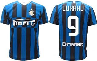 T-Shirt Fußball ROMELU LUKAKU 9 F.C. Inter Internazionale Schwarz Blau Trikot Saison 2019-2020 Replica OFFIZIELLE mit Lizenz - Alle Größen Kinder und Erwachsene