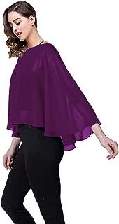 Casual Chiffon Cape Soft Shawl Sheer Shrugs Poncho Capelets shawls and Wraps for Women