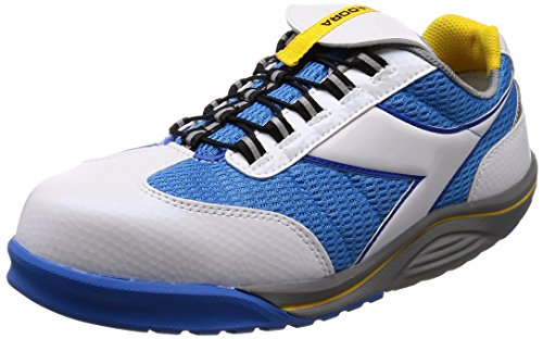 [ディアドラユーティリティ] 作業靴 JSAA認定 プロスニーカー RG14 ホワイト/ブルー 25.0cm 3E