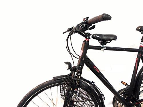 BISOMO Fahrrad Kindersitz Komplett-Set - DDR Zeiten (Damen No.1 - Ø 22-35 mm, Schwarzer Sattel)